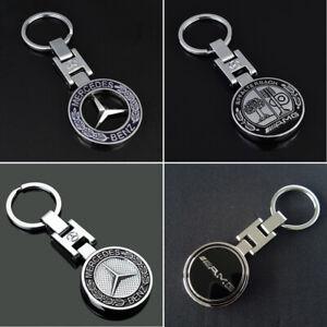 Metal Keyring Car Logo Key Chain Fobs for Mercedes-Benz AMG Affalterbach