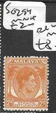 MALAYA STRAITS SETTLEMENTS (P2302B) KGVI  2C  SG 294    MNH