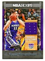 2017-18 Panini Hoops ROOKIE REMEMBRANCE RELIC #RR-DP GEORGIOS PAPAGIANNIS Kings