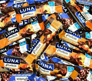 110 ASSORTED LUNA PROTEIN  NUTRITION  HIGH PROTEIN BARS NO RESERVE