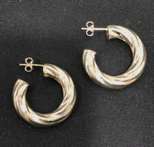NEW Sterling Silver Earrings Hoop Studs Twisted Hollow Statement Genuine 925 S/S
