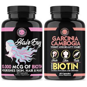Biotin & Keratin 10,000 mg Hair Envy Skin & Nails + Garcinia Biotin Women's