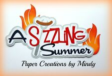 CRAFTECAFE MINDY POPSICLE SUMMER TITLE premade paper piecing for scrapbook