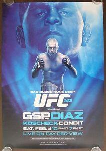 Official UFC 143A St.Pierre vs Diaz Poster 27x39 (Near Mint)