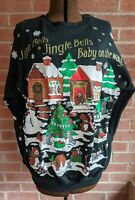 "Vintage "" Baby on the Way"" Christmas Maternity Sweatshirt Sz M USA Animals"