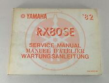Manual de Taller/Taller Manual Yamaha Chopper Rx 80 Se Año Fabricación 1982