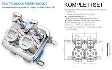 """ENSEMBLE COMPLET Block de montage MICRO 2"""" avec Compteurs d'eau froid/chaud neuf"""