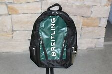 Breitling Green/Black Backpack Authentic Rare