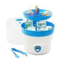 H+H Dampfsterilisator Vaporisator 6 Babyflaschen Sterilisator Bs 29 blau