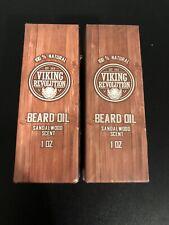 2 Pack Viking Revolution Beard Oil Sandal Wood Scent 1 Oz. New Sealed
