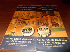 1940 Calso Gasoline Montana Vintage Road Map