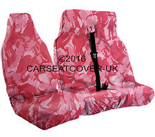 Toyota Proace (13-16) URBAN PINK Camo CAMOUFLAGE Waterproof VAN Seat COVERS 2+1