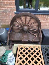 More details for wagon wheel garden bench