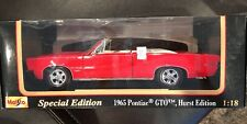 Maisto Special Edition 1965 Pontiac GTO Hurst Edition Convertible Red 1:18 MIB
