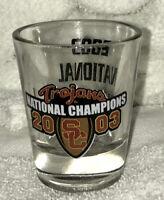 2003 USC TROJANS SC TROJANS NATIONAL CHAMPIONS NCAA CHAMPS shot GLASS