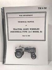 Allis Chalmers Model B Technical Manual Military