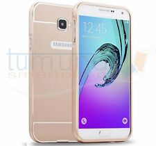 Funda bumper dorada de aluminio tapa trasera para Samsung Galaxy A3 (2016)