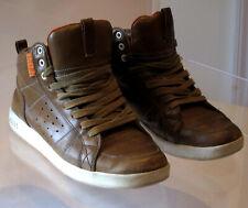Clae Russell cla01235 Skateboard skate vtg sneakers Olive Leather us 8 uk 7 40.5