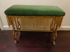 Hollywood Regency Style Vanity Bench Cast Iron