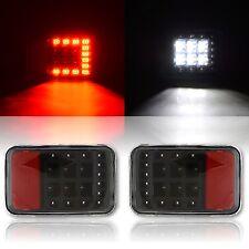 2007-2015 Jeep Wrangler Rear Bumper LED Running & Reverse Light Lamp Lens Pair