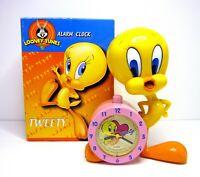 Rare Vintage 2001 Looney Tunes Tweety Bird Alarm Clock Warner Brothers Store