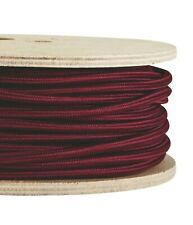BURGUNDY FABRIC CABLE - Lighting Cable Flex - Italian - Sold Per Metre