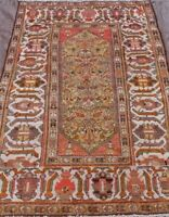 Antique Tribal Pictorial Hand-Knotted Wool Nomadic Oriental Rug 4' X 7'