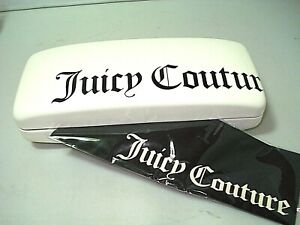 NEW JUICY COUTURE EYEGLASSES SUNGLASS CASE  with CLEANING CLOTH