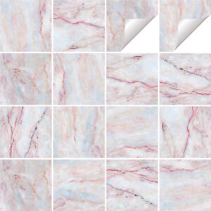 Marble Tile Stickers Transfers Kitchen Bathroom Various Sizes - M6