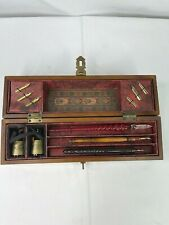 Writing Painting Calligraphy Brush Pens In Wooden Box 3 Pens 6 Extra Tips & Inks