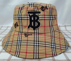Burberry Check Hat Bucket Cap Packable Casual Men Or Women Hat