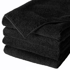 120 BLACK MICROFIBER TOWEL NEW CLEANING CLOTHS BULK 16X16 MANUFACTURERS SALE
