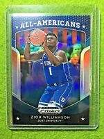 ZION WILLIAMSON PRIZM ROOKIE CARD JERSEY #1 DUKE BLUE REFRACTOR RC 2019 PELICANS