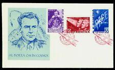 1961 Gagarin,Titov,Russian Space Navigators,Astronauts,Vostok,Romania,M.1994,FDC