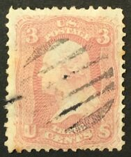 1861 US Stamp #64b* 3c UHR OG With Paper F/VF Perf 12 Catalogue Value $150 X1/11