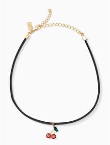 KATE SPADE Ma Cherie Cherry Choker Necklace
