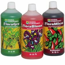 PACK ENGRAIS GHE FLORA SERIES 3X 1L GROW MICRO BLOOM