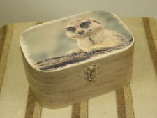 Oval Decorative Trinket Boxes with Lid