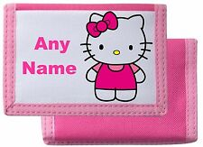 Personalised Hello Kitty Style Wallet/Purse *Pink/Blue/Black/Red*Mayzie Designs®