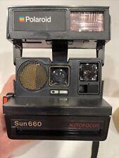 Vintage Polaroid Sun 660 Autofocus Instant Camera 600 Film. Tested EXCELLENT