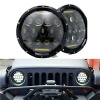 "Pairs 7"" black LED H4 headlight lamps headlamp for Land Rover Defender"