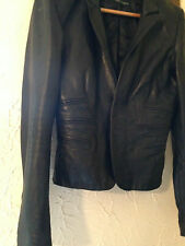 Authentic black lambs skin rare DSQUARED leather jacket 46 uk 10-12 DSQUARED2