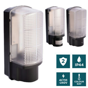 IP44 Dusk Dawn PIR Motion Sensor 6W LED Wall Mounted Garden Door Security Light