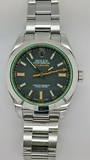 Rolex Milgauss 116400V Stainless Steel Automatic Watch Green Crystal - 40MM