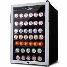 4.5 Cu.Ft. Mini Fridge Beverage Cooler 150 Cans  Single Door Bar Stainless Steel