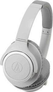 Audio-Technica ATH-SR30BTGY Bluetooth Wireless Over-Ear Headphones, Natural Gray