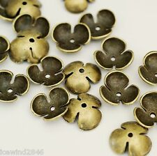 20pcs Antique Bronze Alloy Flower Bead Caps (15mm ) A13041-AB-FF