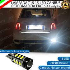 LAMPADA RETROMARCIA 13 LED T15 W16W CANBUS PER FIAT 500 RESTYLING 6000K NO ERROR
