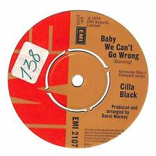 """Cilla Black - Baby We Can't Go Wrong - 7"""" Record Single"""