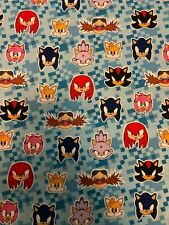 Sonic the Hedgehog - Fat Eighth - Multiple Characters - 100% Cotton